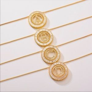 New 18k gold plated letter necklace